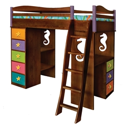 Tropical Seas Loft Bed - Chocolate RM78-TSD Tropical Seas Loft Bed - Chocolate RM78-TSD