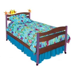 Tropical Seas Platform Bed - Chocolate RM39-TSD Tropical Seas Platform Bed - Chocolate RM39-TSD
