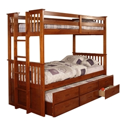 University Twin/Twin Bunk Bed - Oak CM458A University Twin/Twin Bunk Bed - Oak CM458A
