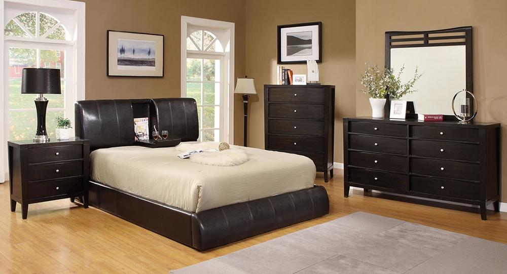 Webster Platform Bed Espresso CM7027E