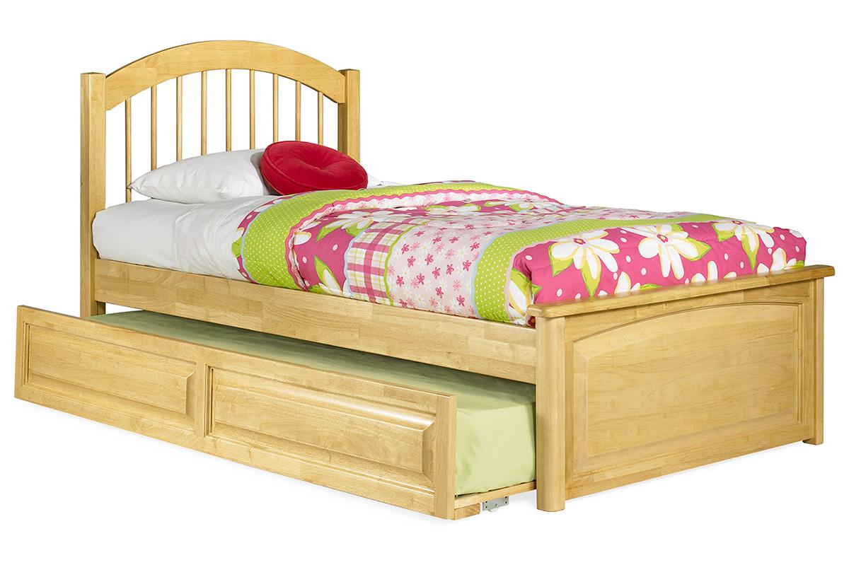 Windsor platform bed raised panel footboard for Raised platform bed