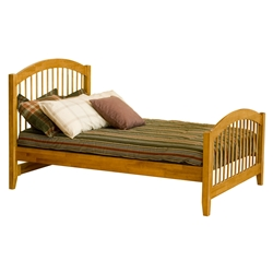 Windsor Traditional Bed with Matching Footboard - Caramel Latte Windsor Traditional Bed with Matching Footboard - Caramel Latte