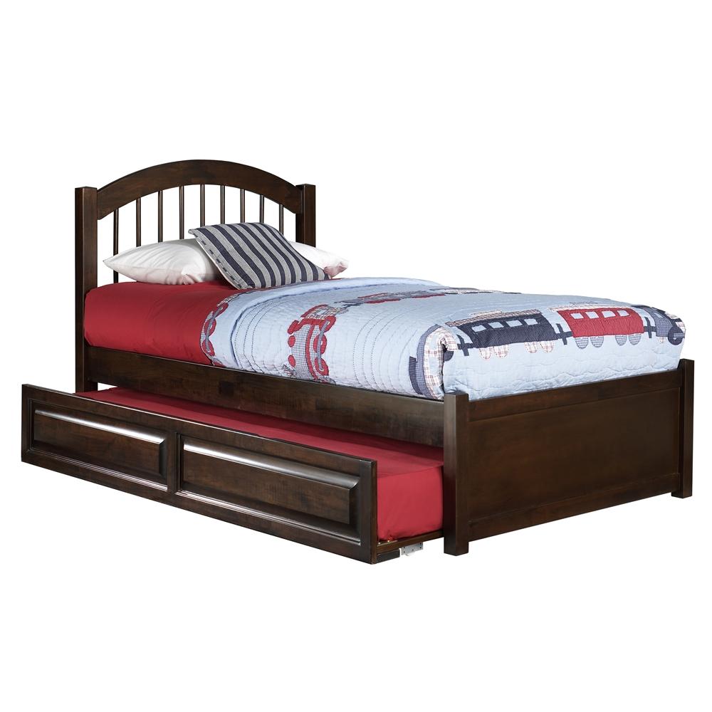 Windsor Platform Bed With Flat Panel Footboard Antique