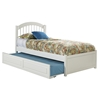 Windsor Platform Bed with Flat Panel Footboard - White Windsor Platform Bed with Flat Panel Footboard - White