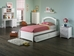 Windsor Platform Bed with Flat Panel Footboard - White - AP94X2X1222