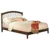 Windsor Platform Bed with Open Footrails - Antique Walnut Windsor Platform Bed with Open Footrails - Antique Walnut