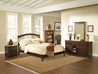 Windsor Platform Bed with Open Footrails - Antique Walnut - AP94X1004