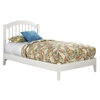 Windsor Platform Bed with Open Footrails - White Windsor Platform Bed with Open Footrails - White