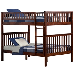 Woodland Full/Full Bunk Bed - Antique Walnut AB56504 Woodland Full/Full Bunk Bed - Antique Walnut  AB56504