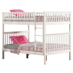 Woodland Full/Full Bunk Bed - White AB56502 Woodland Full/Full Bunk Bed - White AB56502