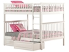Woodland Full/Full Bunk Bed - White AB56502 - AB56502