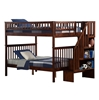 Woodland Full/Full Staircase Bunk Bed - Antique Walnut AB56804 Woodland Full/Full Staircase Bunk Bed - Antique Walnut AB56804