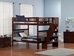 Woodland Full/Full Staircase Bunk Bed - Antique Walnut AB56804 - AB568X40