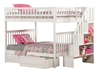 Woodland Full/Full Staircase Bunk Bed - White AB56802 - AB56802