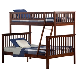 Woodland Twin/Full Bunk Bed - Antique Walnut AB56204 Woodland Twin/Full Bunk Bed - Antique Walnut AB56204