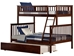 Woodland Twin/Full Bunk Bed - Antique Walnut AB56204 - AB56204