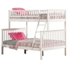Woodland Twin/Full Bunk Bed - White AB56202 Woodland Twin/Full Bunk Bed - White AB56202