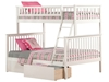 Woodland Twin/Full Bunk Bed - White AB56202 - AB56202