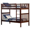 Woodland Twin/Twin Bunk Bed - Antique Walnut AB56104 Woodland Twin/Twin Bunk Bed - Antique Walnut AB56104