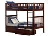 Woodland Twin/Twin Bunk Bed - Antique Walnut AB56104 - AB56104
