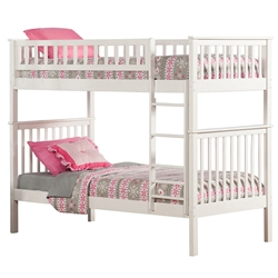 Woodland Twin/Twin Bunk Bed - White AB56102 Woodland Twin/Twin Bunk Bed - White AB56102