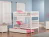 Woodland Twin/Twin Bunk Bed - White AB56102 - AB56102
