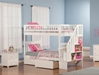 Woodland Twin/Twin Staircase Bunk Bed - White AB56602 - AB56602