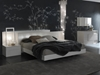 White Irwin Leather Platform Bed - PBO-T412600345068