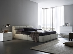 Nuvola Leather Platform Bed Youll be in dream-heaven with a bed like the Nuvola Leather Platform Bed. With its soft, inviting frame made from cloud-shaped leather, this bed is the Queen of Dreams.