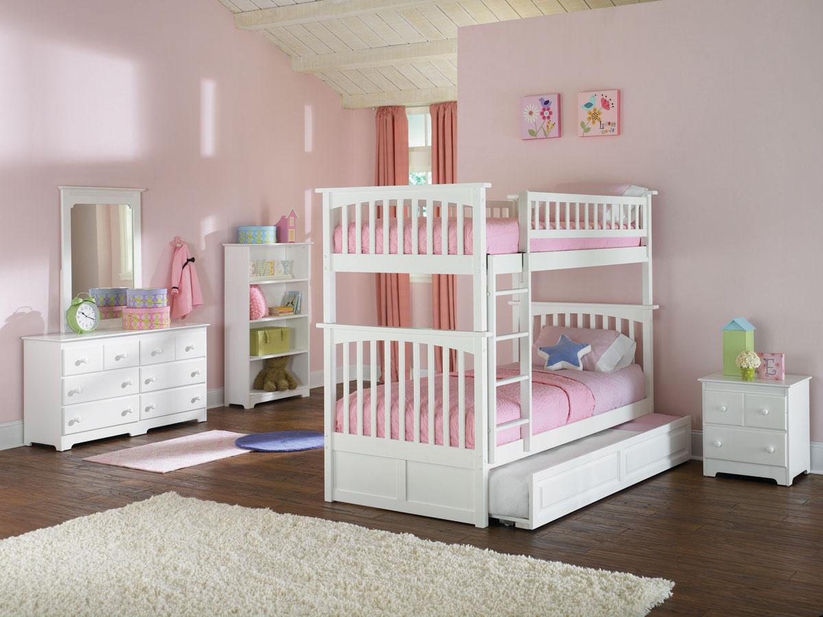 Columbia Girls Twin Twin Bunk Bed