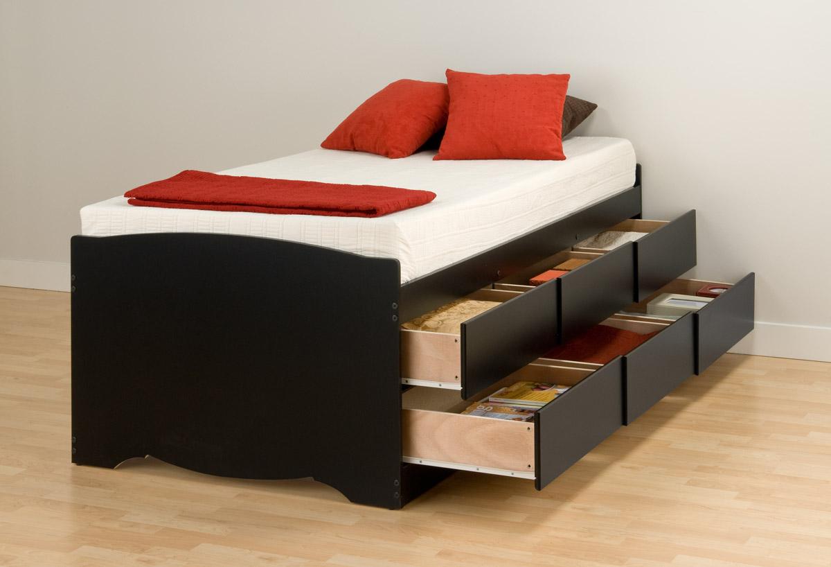 Augusta Tall Storage Platform Bed With Headboard Platformbedsonline Com