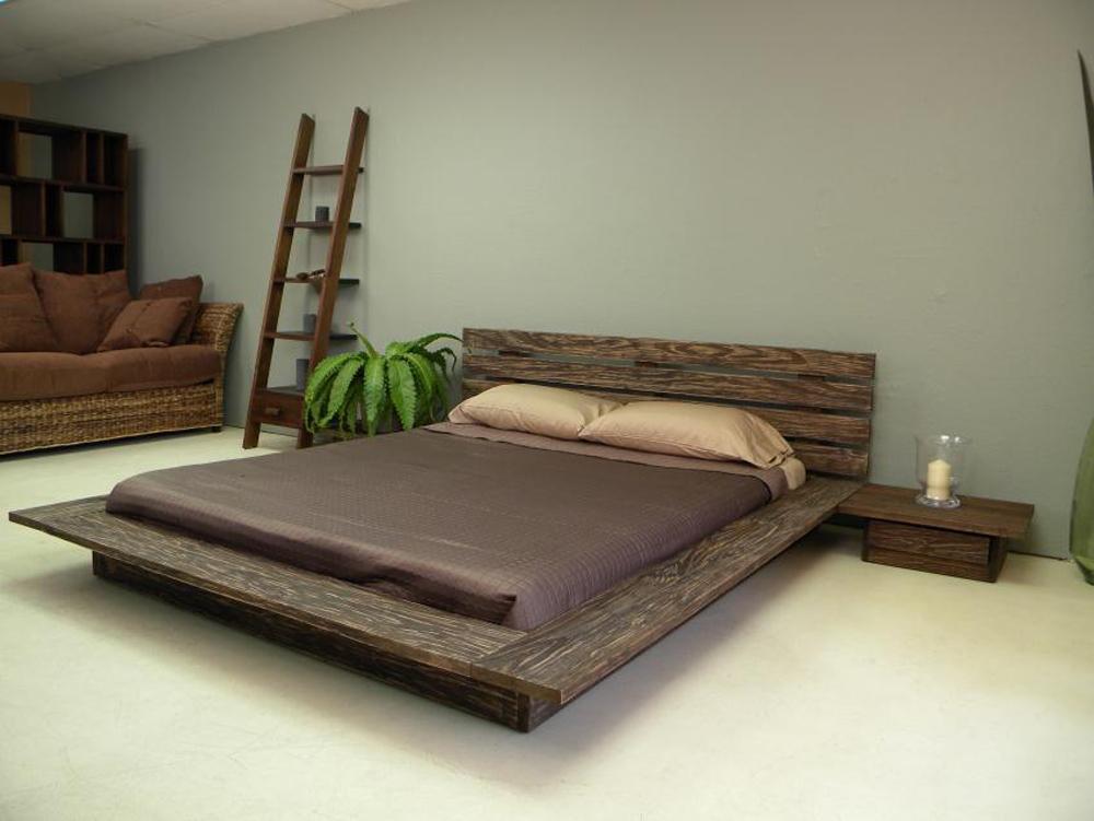 delta platform bed asian modern design style - Rustic Bed Frames