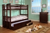 University Twin/Twin Bunk Bed - Dark Walnut CM458DW - CM458DW