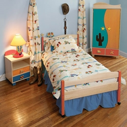 The Deputy Boys Twin Platform Bed Your little boy will be the head Deputy in no time with The Deputy Twin Bed.