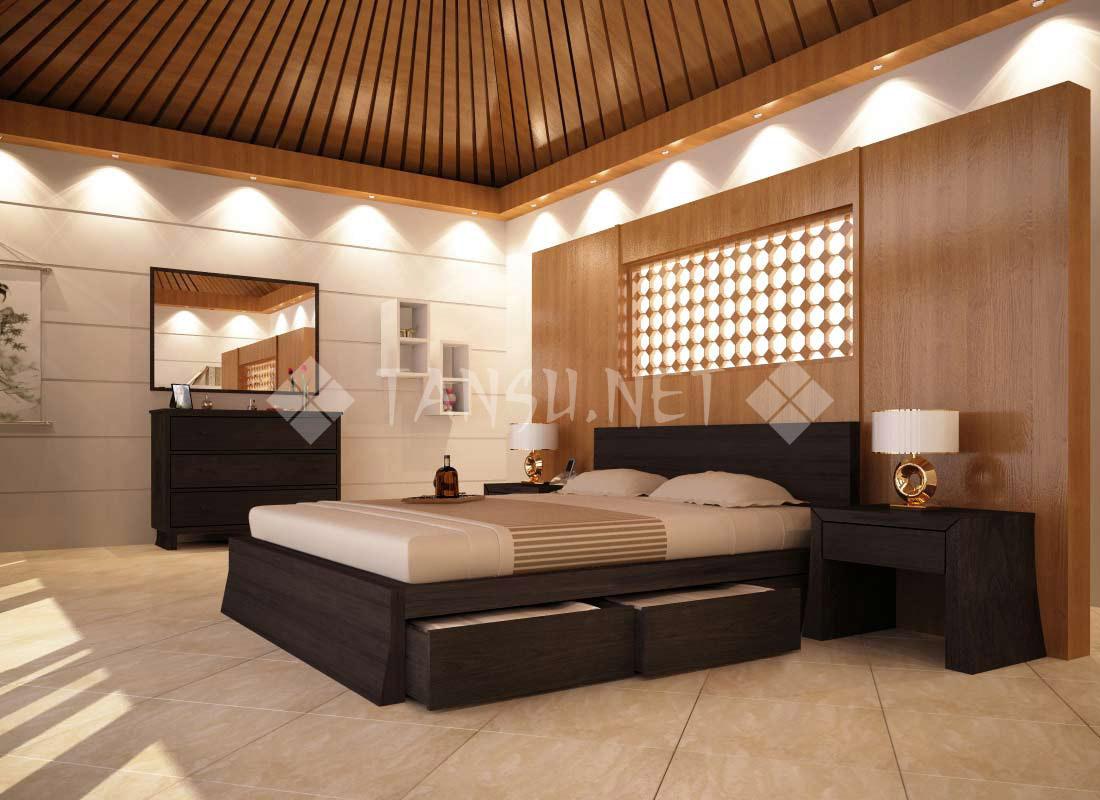Queen storage bed modern -  Cairo Storage Platform Bed Tansu12692