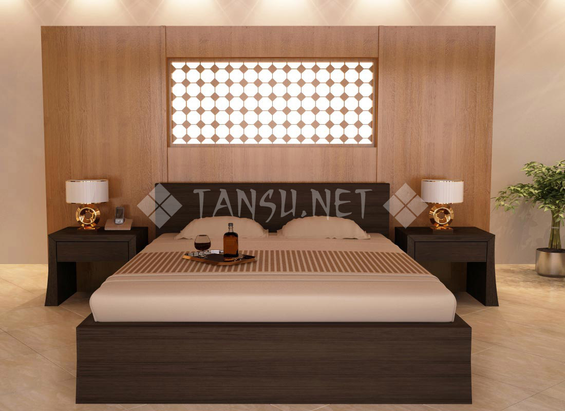 Cairo Tansu Platform Bed Modern Asian Design Style Bedroom Furniture  Aesthetic Philosophy Minimal Sleek Affordable High