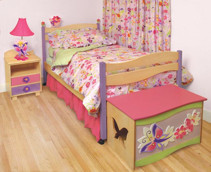 Bon ... Mystic Garden Girls Twin Platform Bed   KBL95118
