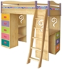 Tea Party Girls Loft Bed - KBL9503