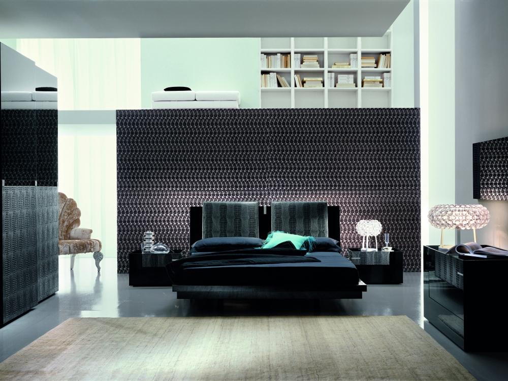 Black Platform Bed Part - 43: ... The Luxe Modern Platform Bed - PBO-T2666MM353028 ...