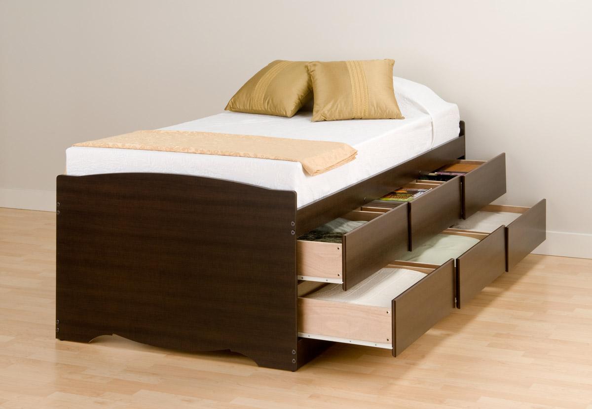 Picture of: Augusta Tall Storage Platform Bed With Headboard Platformbedsonline Com