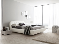 Johansson Leather Platform Bed With its comfortable soft appeal, and its ultra-modern design, the Johansson Leather Platform Bed is ideal for modern bedroom designs.