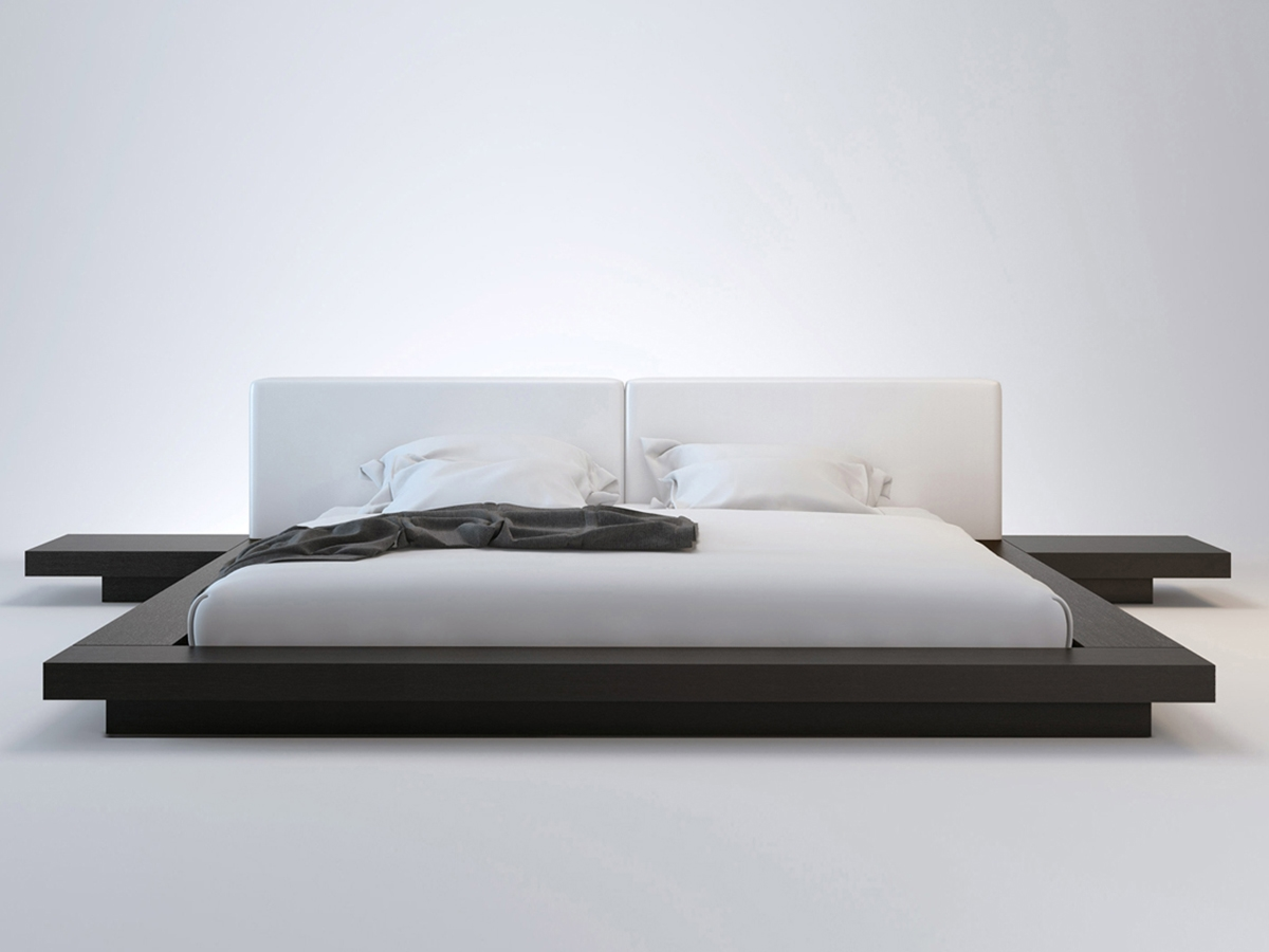platform bed with nightstand. Tokyo Platform Bed + 2 Nightstands - HB39A-X-X With Nightstand F