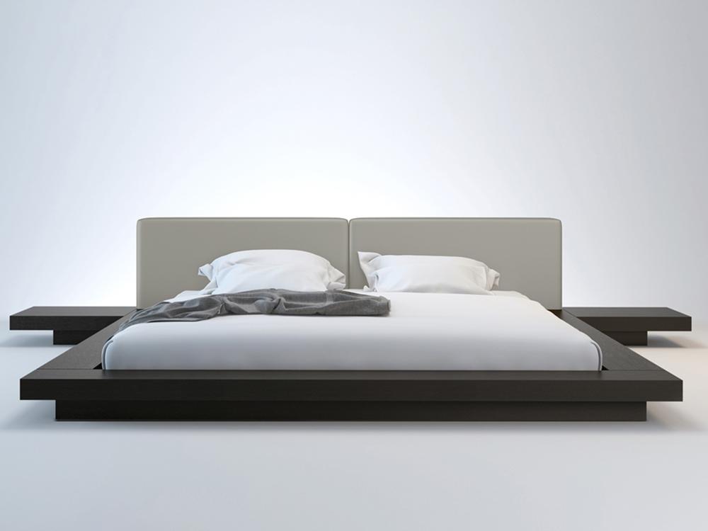 Tokyo Platform Bed  Nightstands