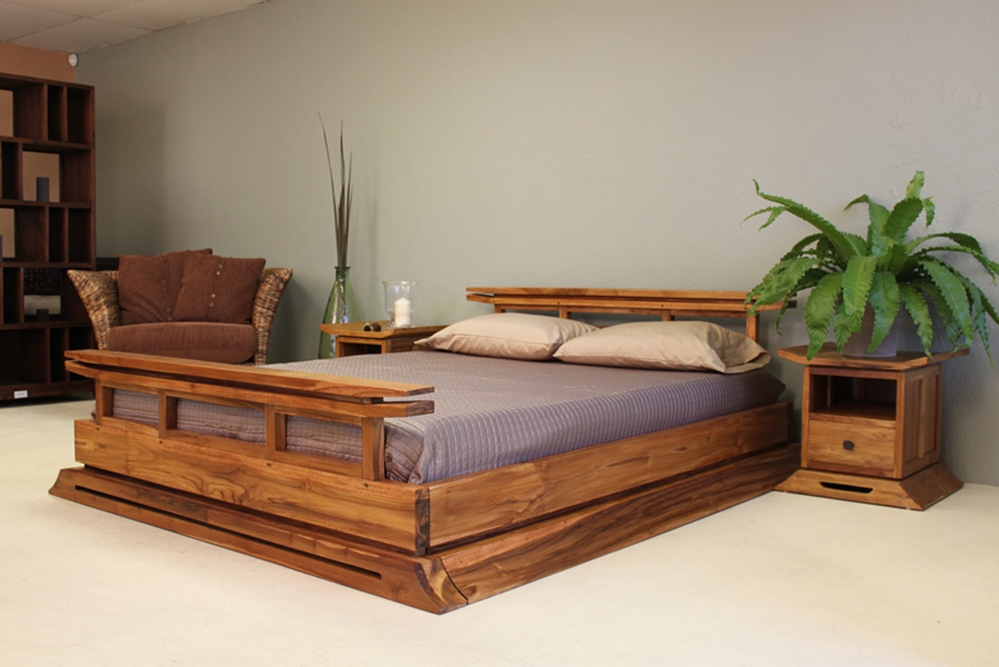 Japanese Platform Bed With Nightstands