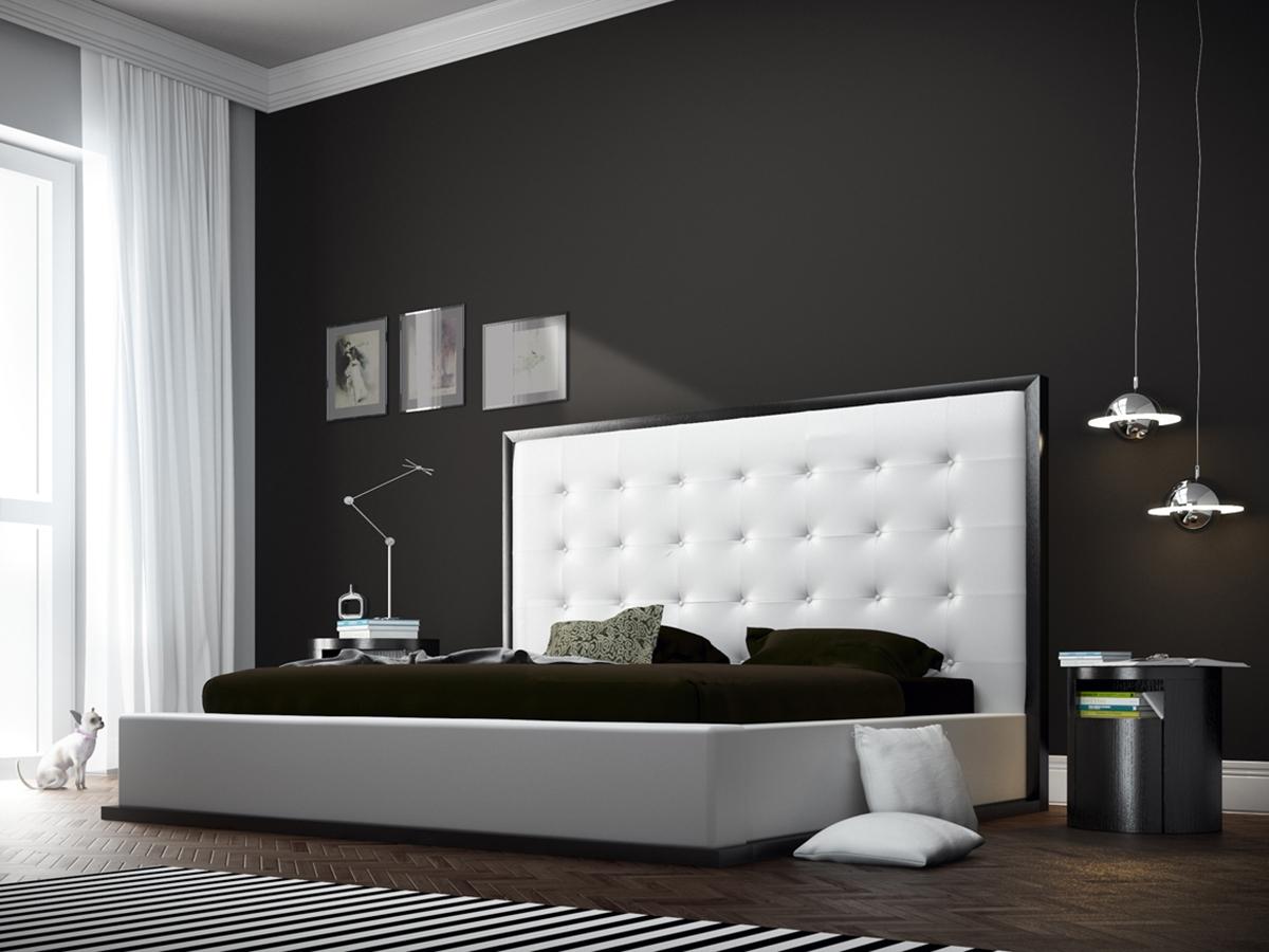 chic upholstered platform bed md317xx - Upholstered Platform Bed