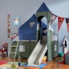 Camelot Boy's Tent Bunk Bed - KBL-938-069