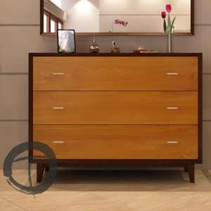 California 3-Drawer Dresser Bring your love for modern and Asian style fusions to life with our California 3-Drawer Dresser.