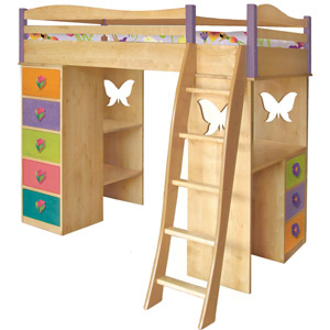 Mystic Garden Girls Loft Bed Its a loft bed, bunk bed, desk, dresser and so much more!
