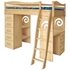 Organic Loft Bed It's a loft bed, bunk bed, dresser - the options are many, but the memories for your child are limitless!