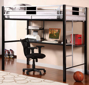Go Mod Desk Loft Bed The Go Mod Desk Loft Bed makes stylish, modern space saving affordable.